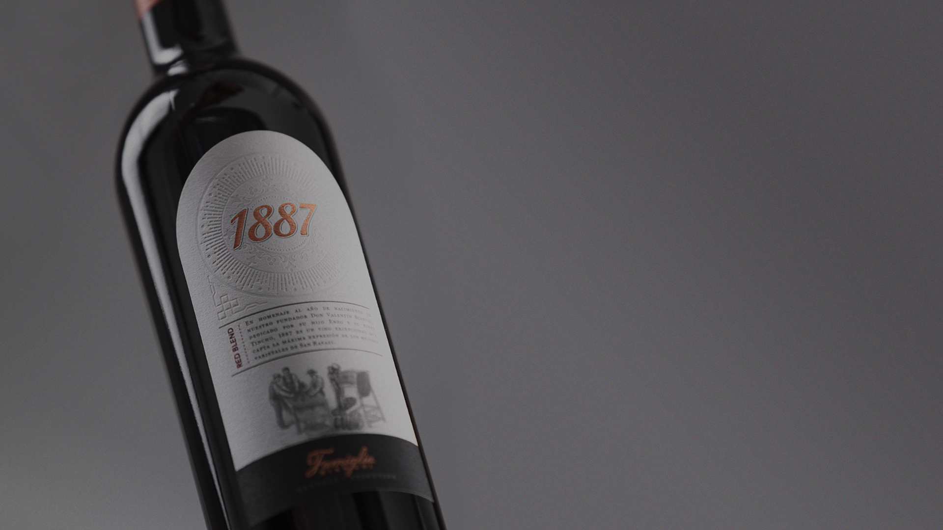 1887 Red Blend bottle